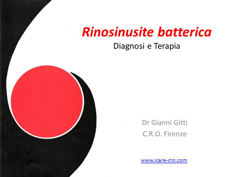Rinosinusite batterica Diagnosi e Terapia