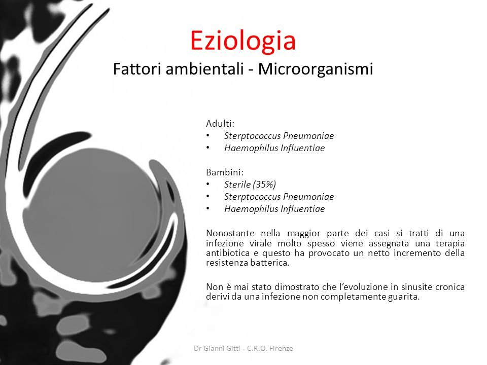 Eziologia Fattori ambientali - Microorganismi