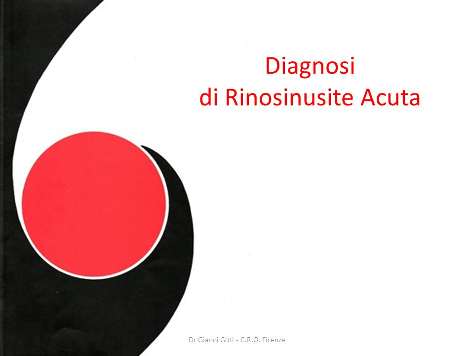 Diagnosi di Rinosinusite Acuta