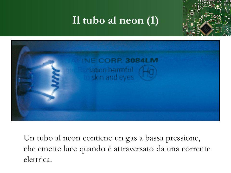 Il tubo al neon (1) Un tubo al neon contiene un gas a bassa pressione,