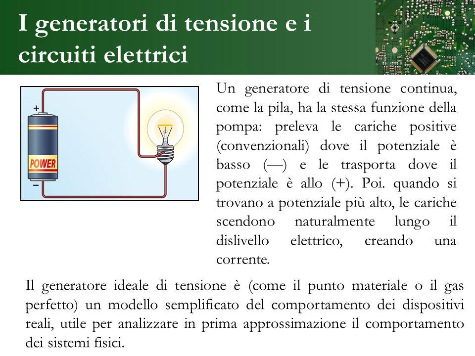 I generatori di tensione e i circuiti elettrici