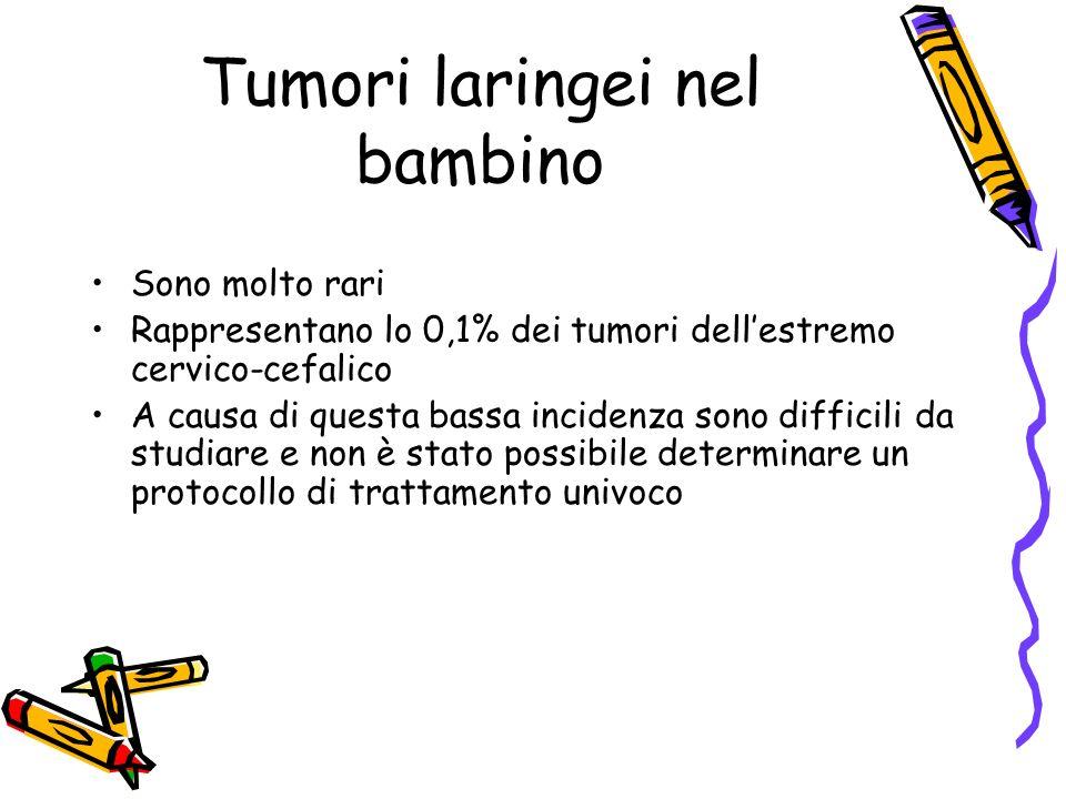 Tumori laringei nel bambino