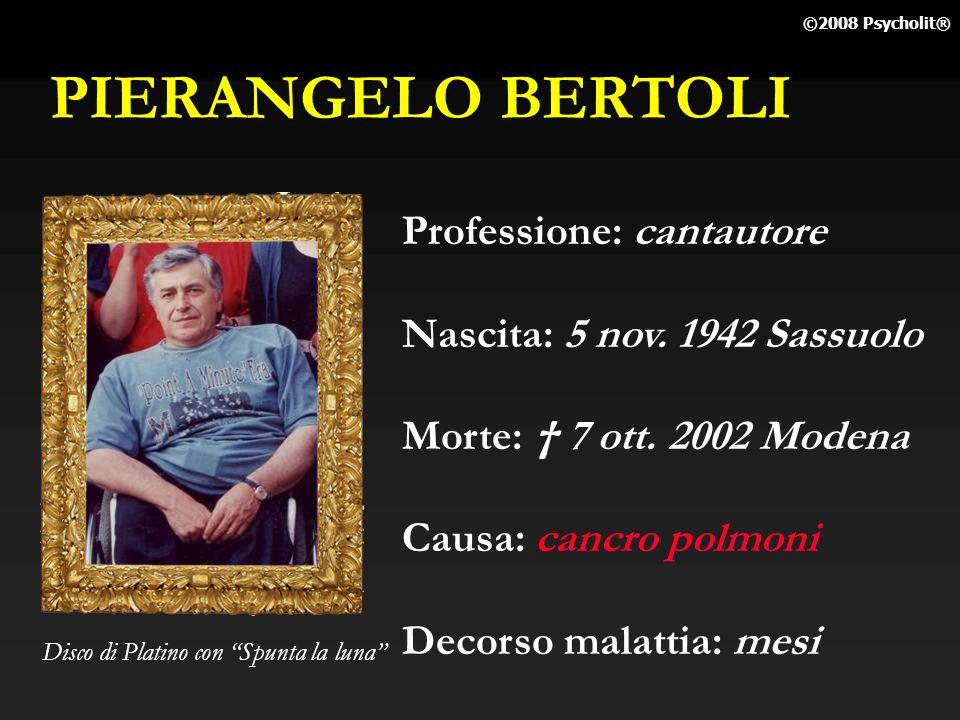 PIERANGELO BERTOLI Professione: cantautore