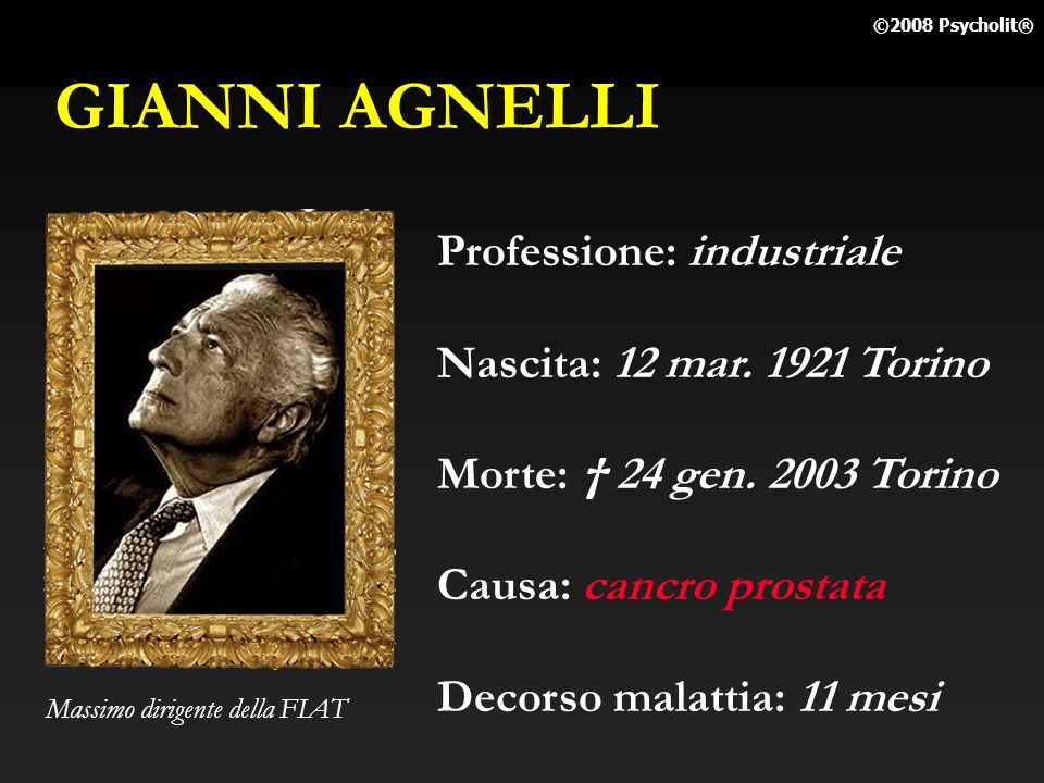 GIANNI AGNELLI Professione: industriale Nascita: 12 mar. 1921 Torino