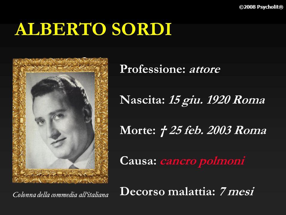 ALBERTO SORDI Professione: attore Nascita: 15 giu. 1920 Roma