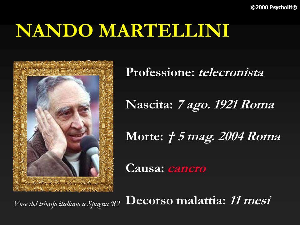 NANDO MARTELLINI Professione: telecronista Nascita: 7 ago. 1921 Roma