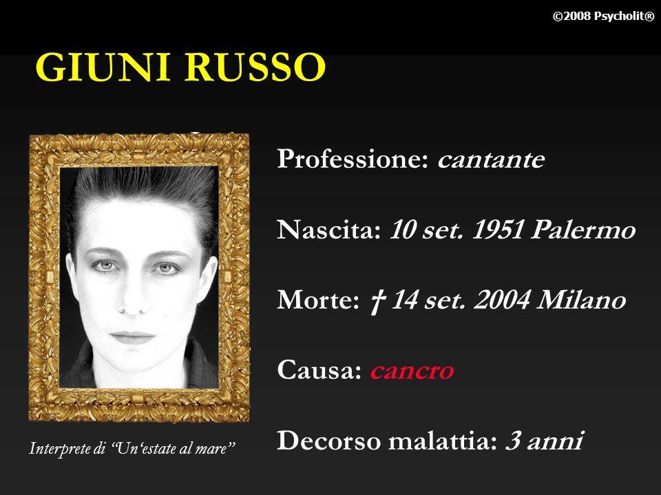 GIUNI RUSSO Professione: cantante Nascita: 10 set. 1951 Palermo