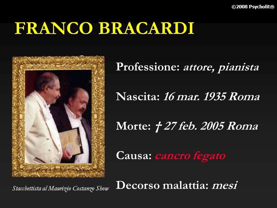 FRANCO BRACARDI Professione: attore, pianista