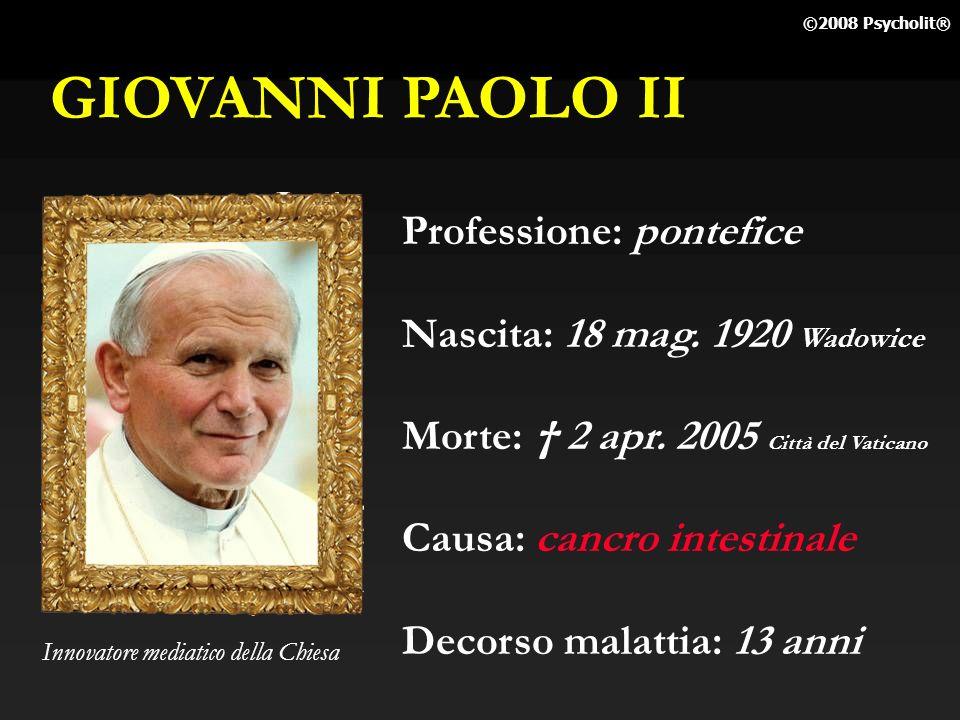 GIOVANNI PAOLO II Professione: pontefice