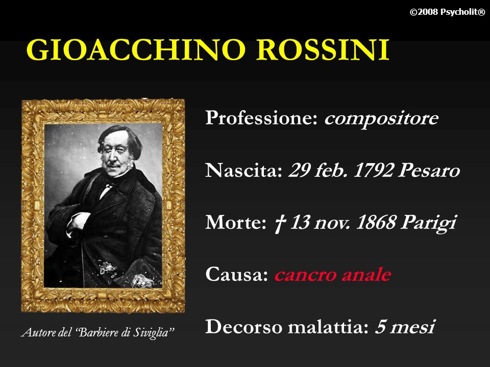 GIOACCHINO ROSSINI Professione: compositore