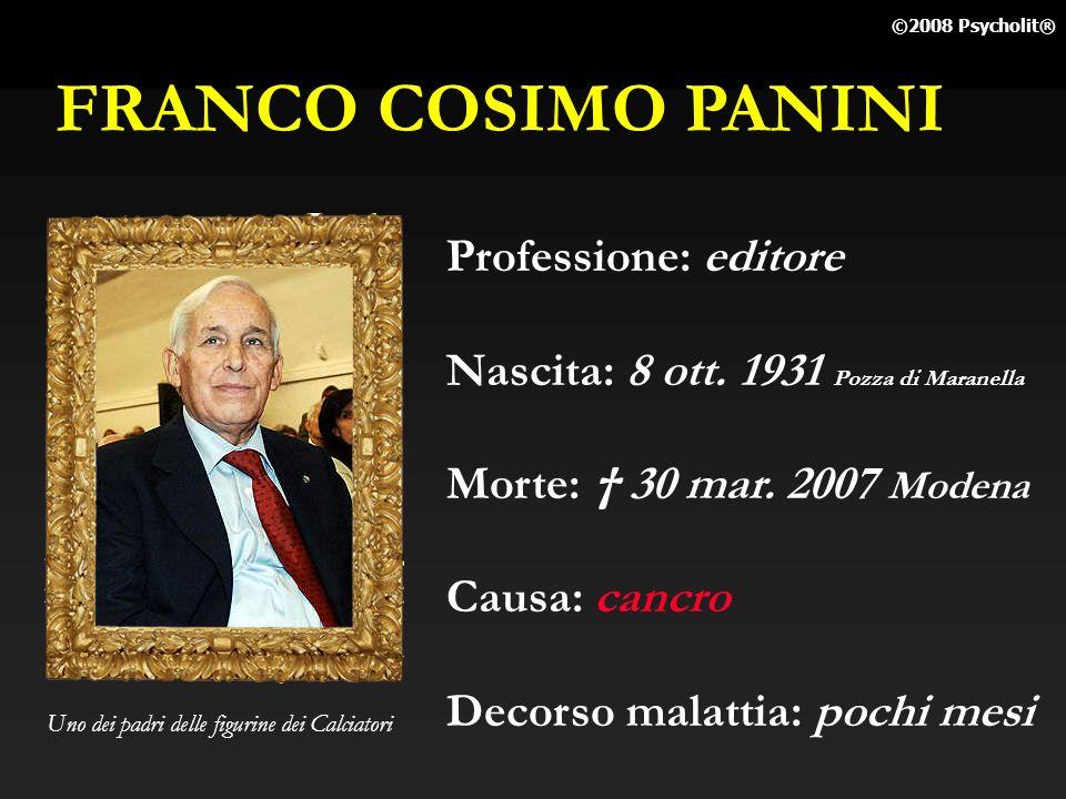 FRANCO COSIMO PANINI Professione: editore