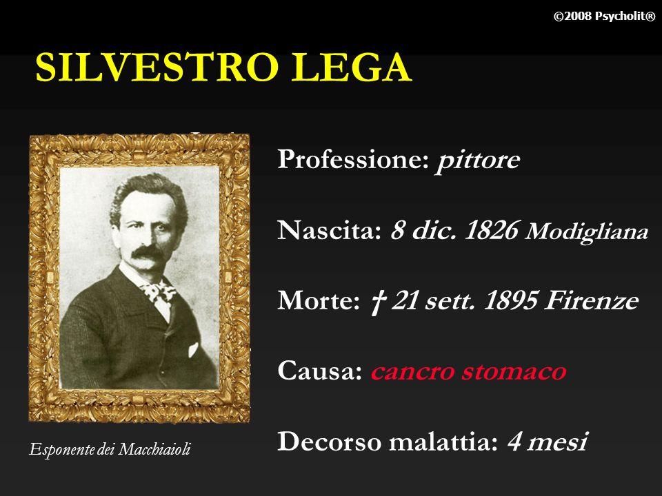 SILVESTRO LEGA Professione: pittore Nascita: 8 dic. 1826 Modigliana