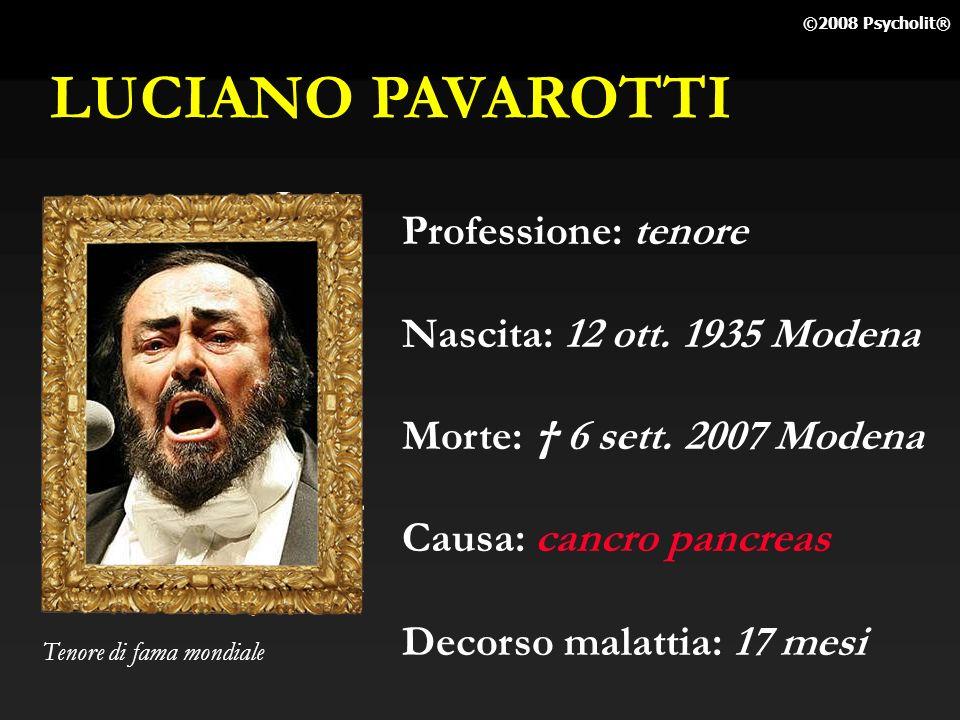 LUCIANO PAVAROTTI Professione: tenore Nascita: 12 ott. 1935 Modena