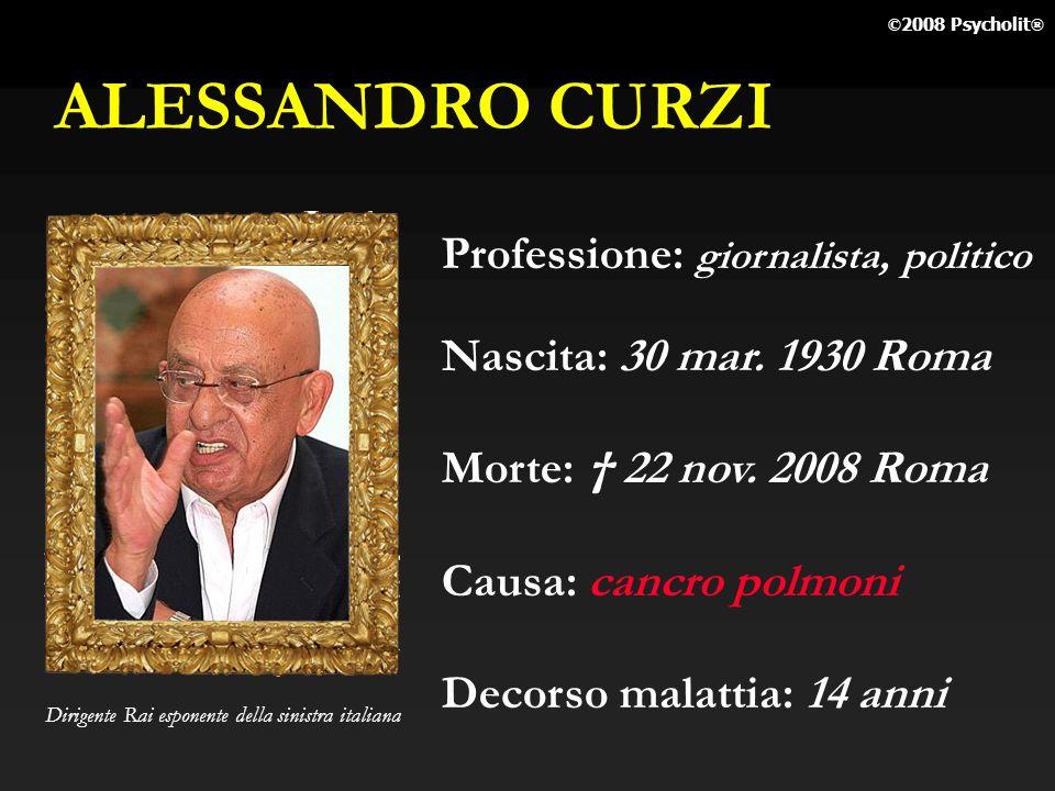 ALESSANDRO CURZI Professione: giornalista, politico