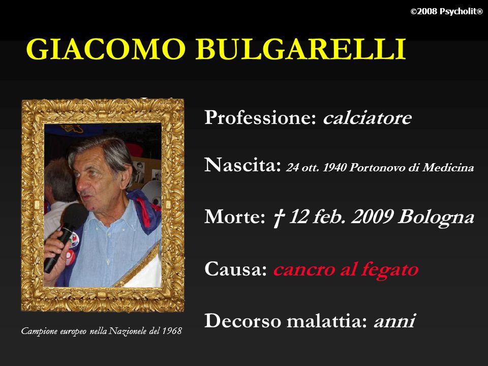 GIACOMO BULGARELLI Professione: calciatore