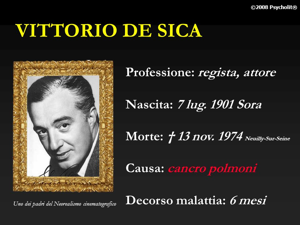 VITTORIO DE SICA Professione: regista, attore