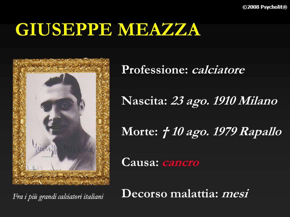 GIUSEPPE MEAZZA Professione: calciatore Nascita: 23 ago. 1910 Milano