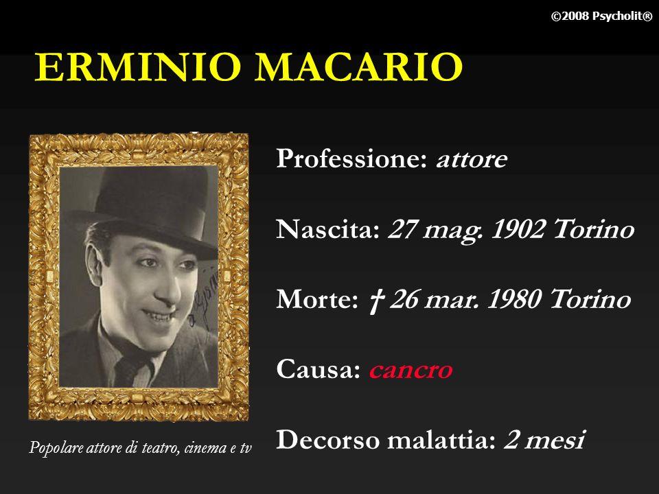 ERMINIO MACARIO Professione: attore Nascita: 27 mag. 1902 Torino
