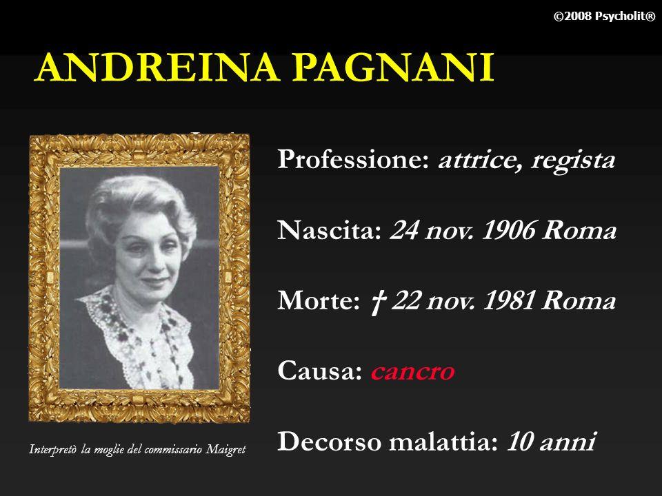 ANDREINA PAGNANI Professione: attrice, regista