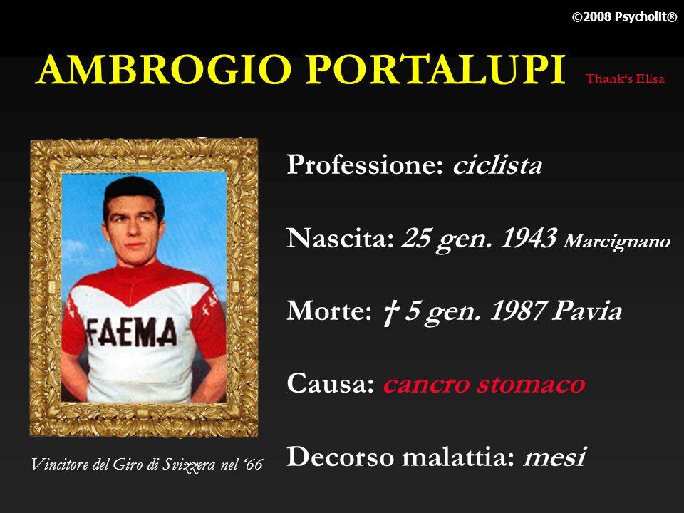AMBROGIO PORTALUPI Professione: ciclista