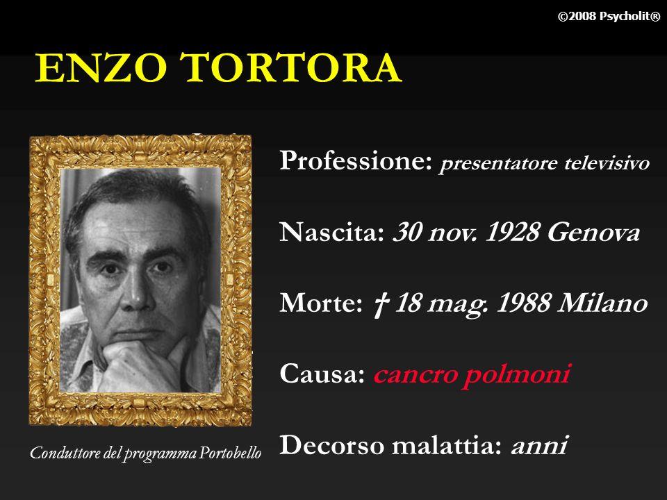 ENZO TORTORA Professione: presentatore televisivo