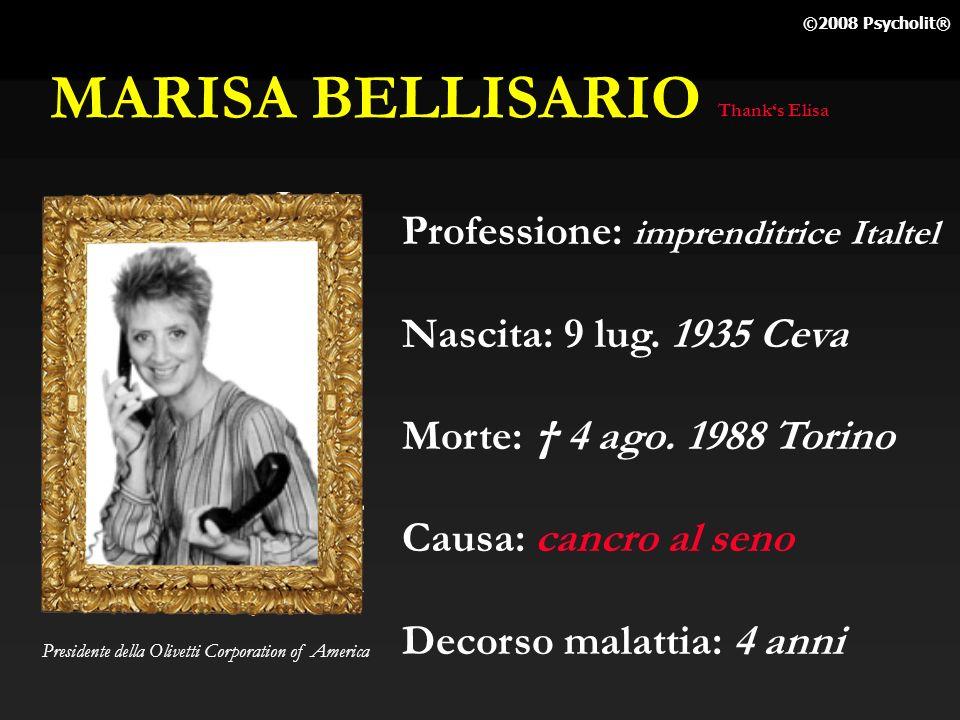 MARISA BELLISARIO Professione: imprenditrice Italtel