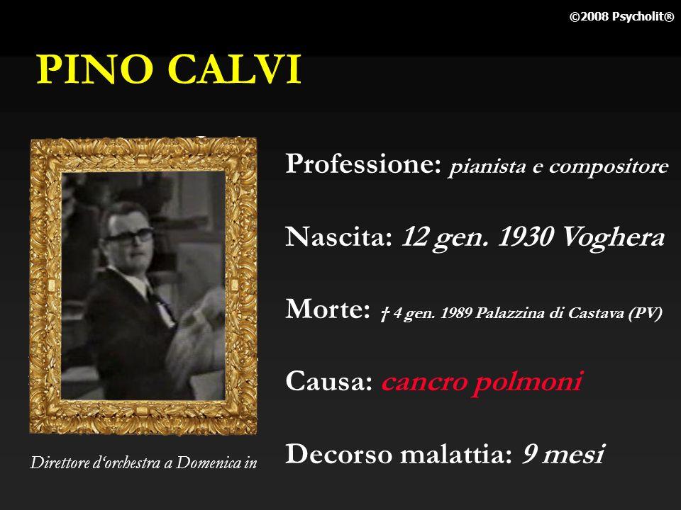 PINO CALVI Professione: pianista e compositore