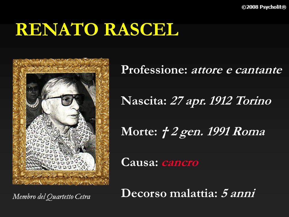 RENATO RASCEL Professione: attore e cantante