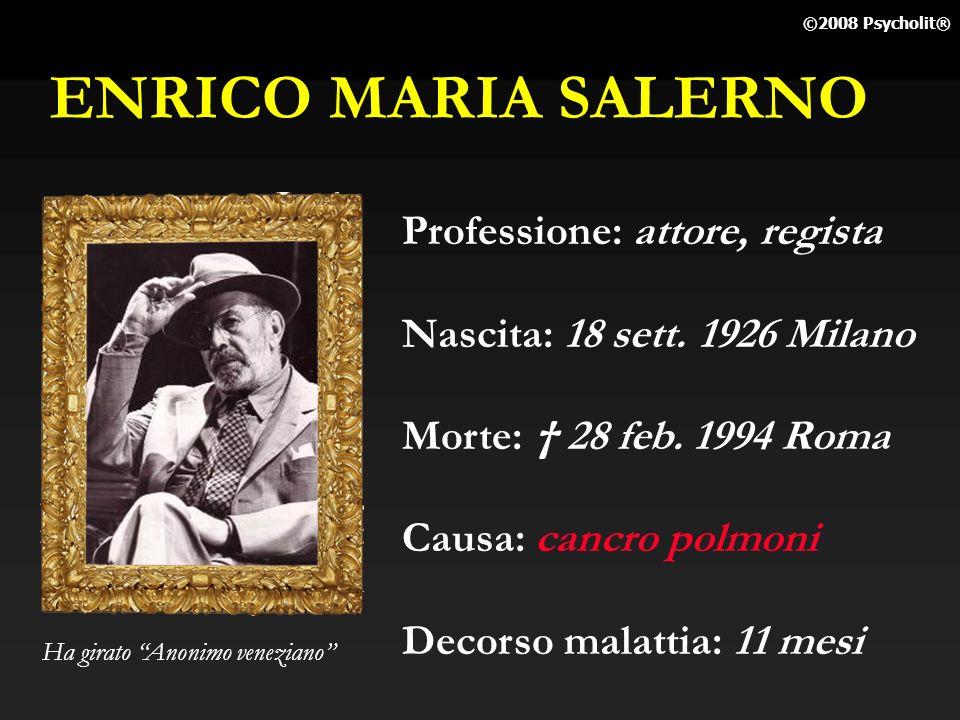 ENRICO MARIA SALERNO Professione: attore, regista