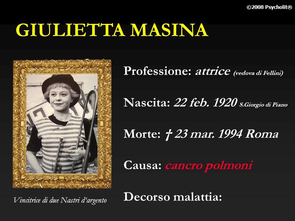 GIULIETTA MASINA Professione: attrice (vedova di Fellini)