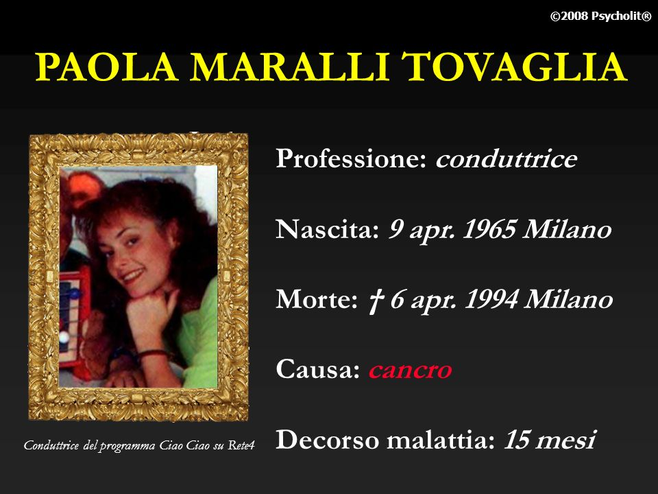 PAOLA MARALLI TOVAGLIA