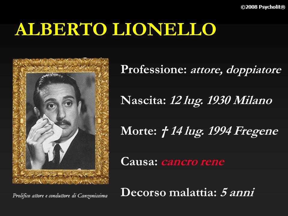 ALBERTO LIONELLO Professione: attore, doppiatore