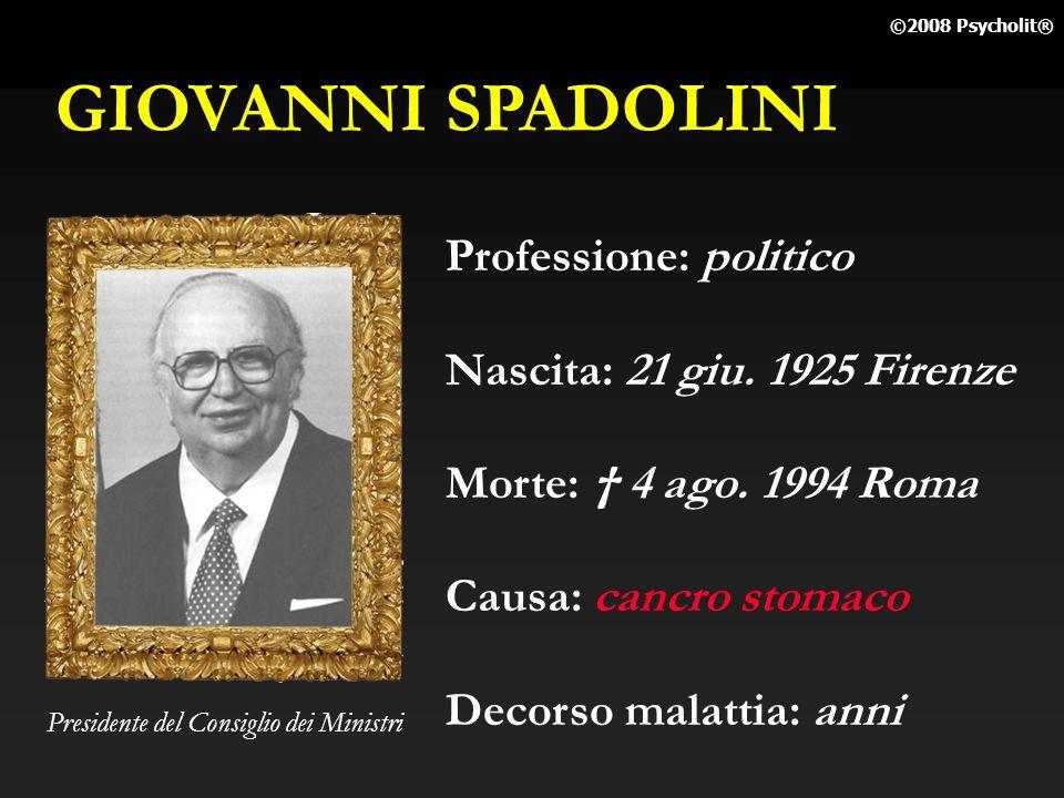 GIOVANNI SPADOLINI Professione: politico Nascita: 21 giu. 1925 Firenze