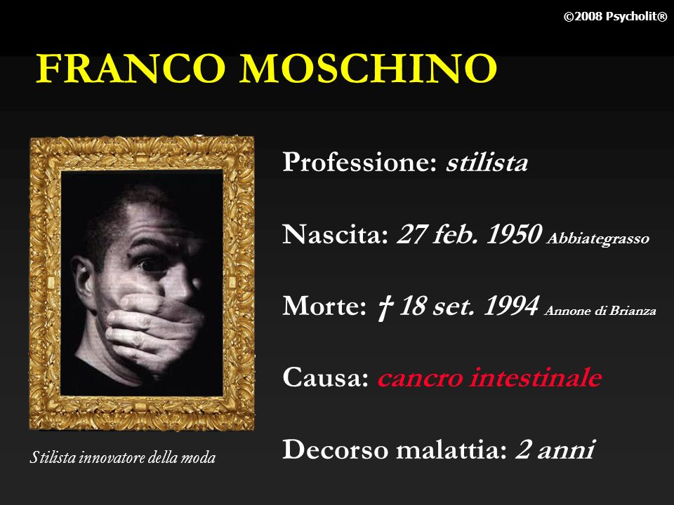 FRANCO MOSCHINO Professione: stilista
