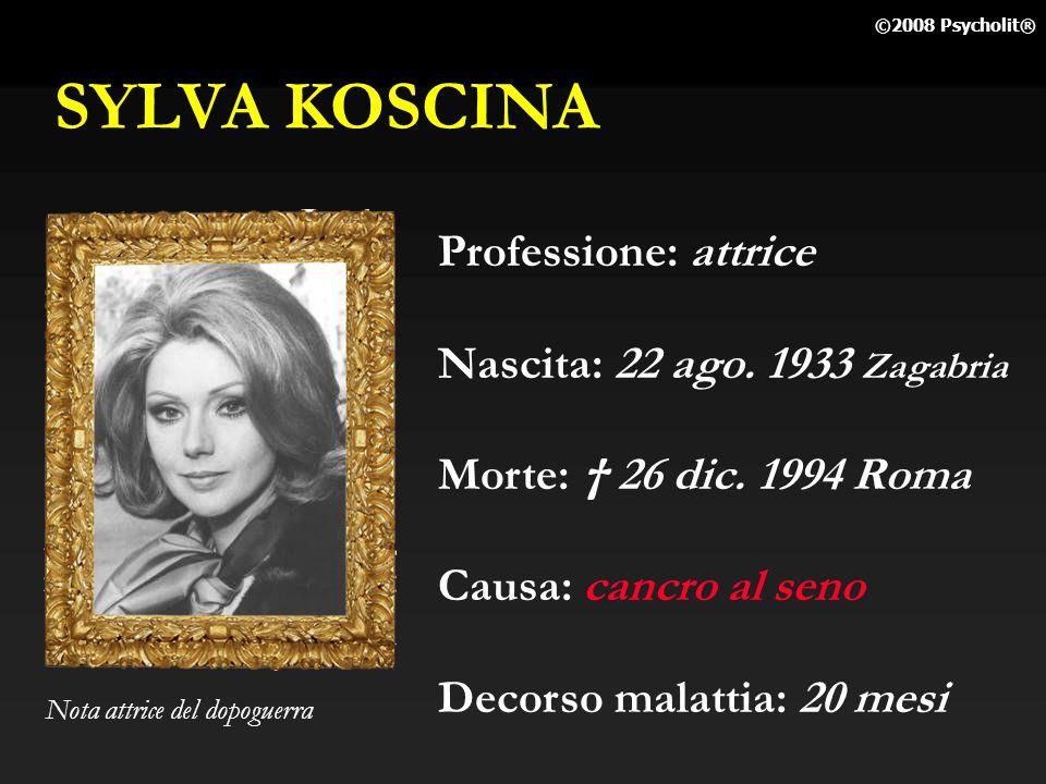 SYLVA KOSCINA Professione: attrice Nascita: 22 ago. 1933 Zagabria