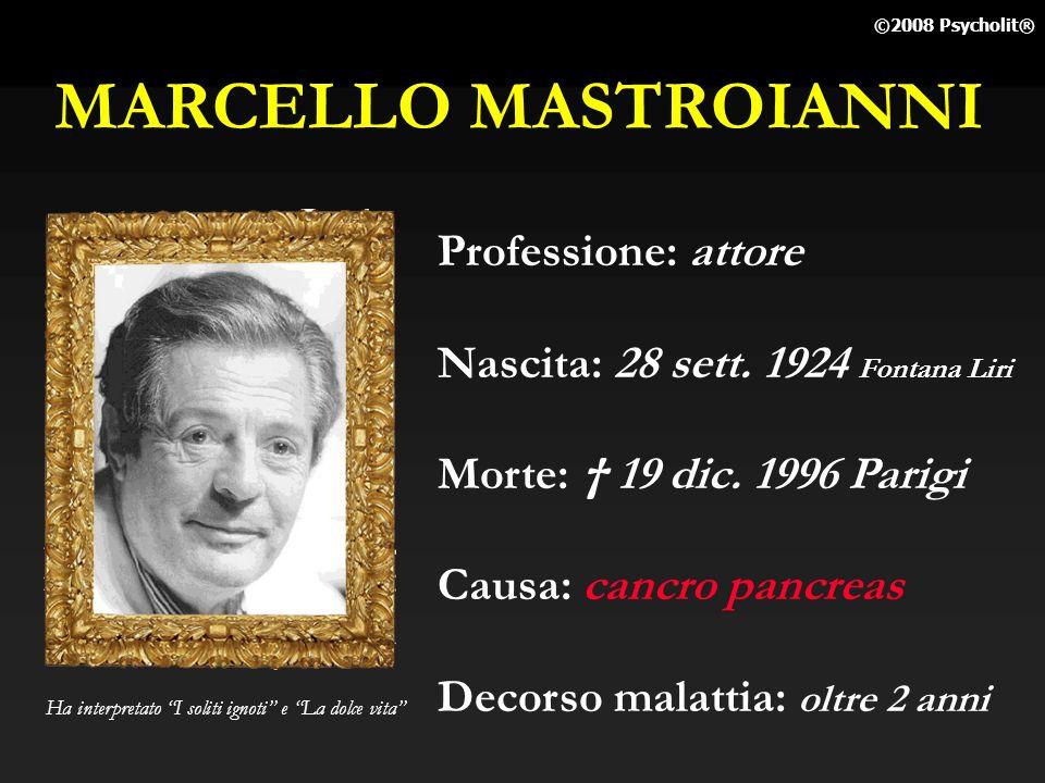 MARCELLO MASTROIANNI Professione: attore