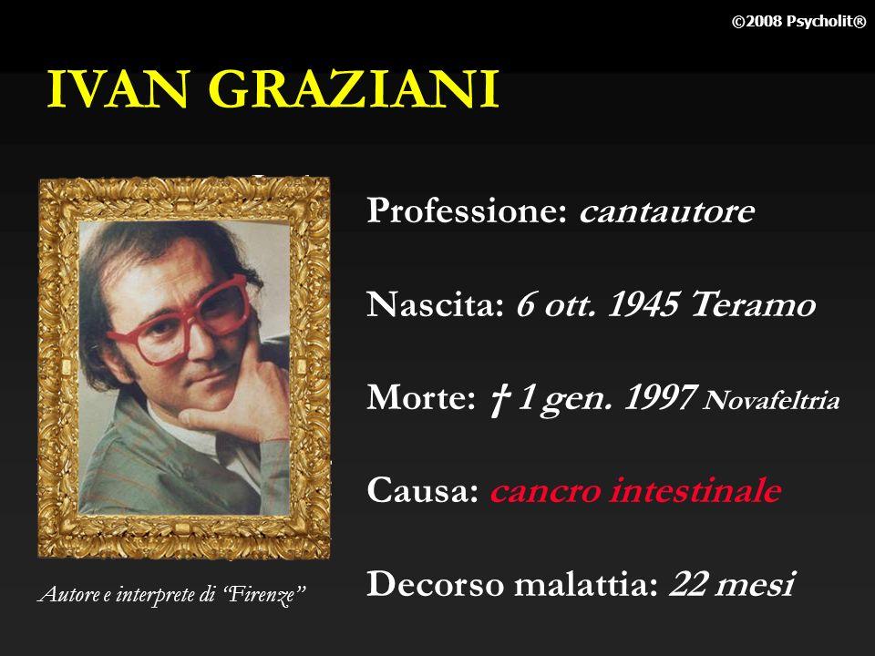 IVAN GRAZIANI Professione: cantautore Nascita: 6 ott. 1945 Teramo