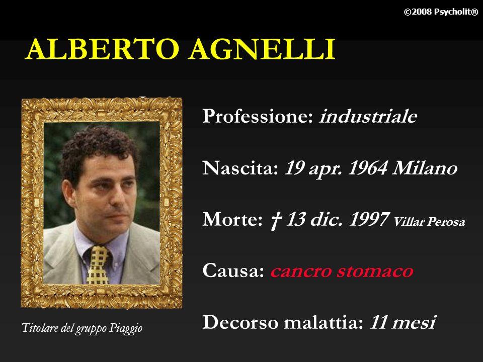 ALBERTO AGNELLI Professione: industriale Nascita: 19 apr. 1964 Milano