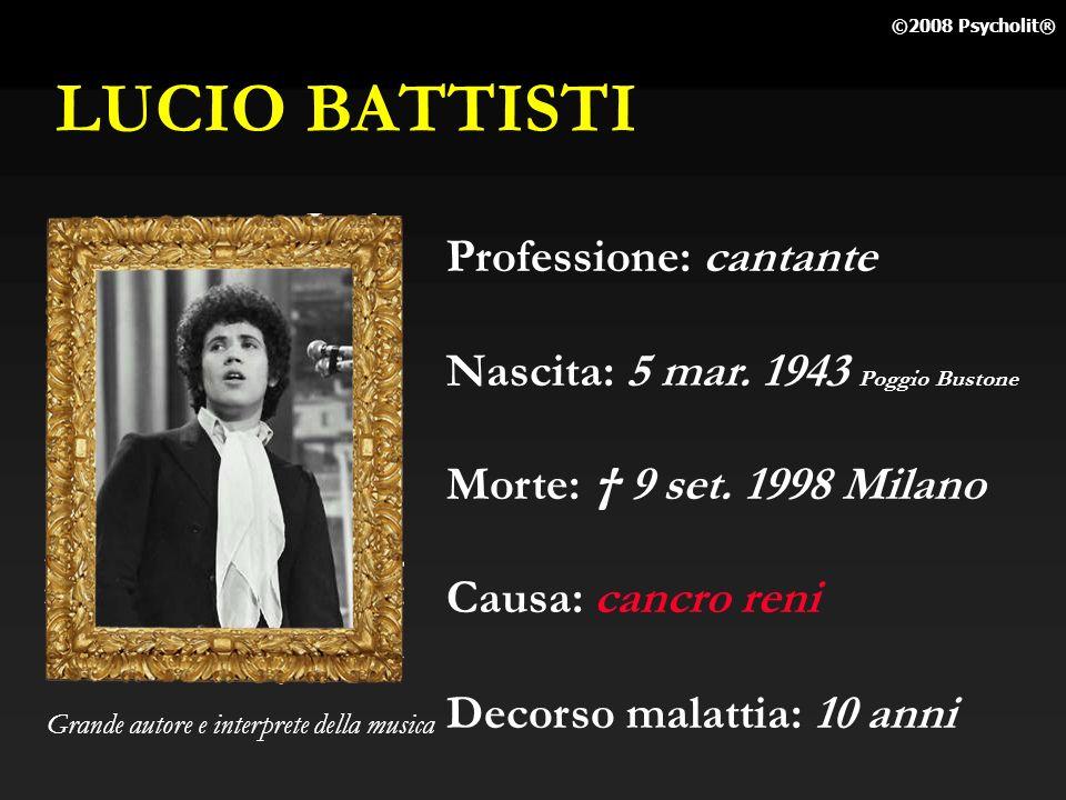 LUCIO BATTISTI Professione: cantante