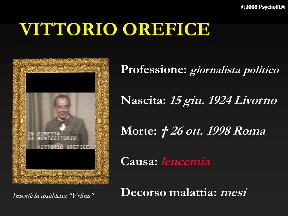VITTORIO OREFICE Professione: giornalista politico