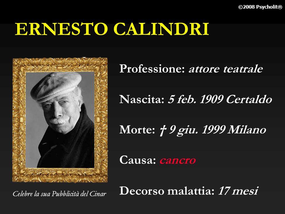ERNESTO CALINDRI Professione: attore teatrale