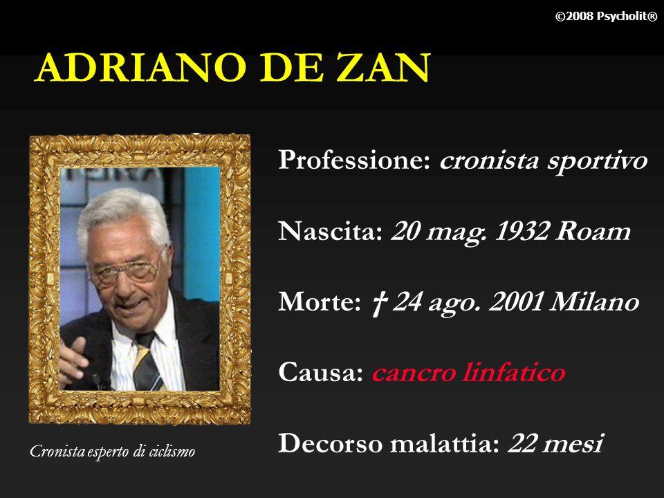 ADRIANO DE ZAN Professione: cronista sportivo