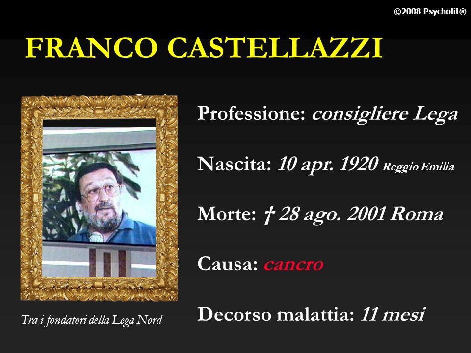 FRANCO CASTELLAZZI Professione: consigliere Lega