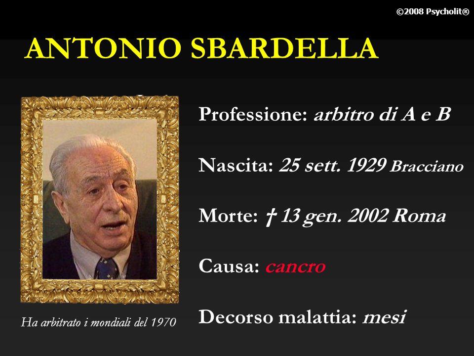 ANTONIO SBARDELLA Professione: arbitro di A e B
