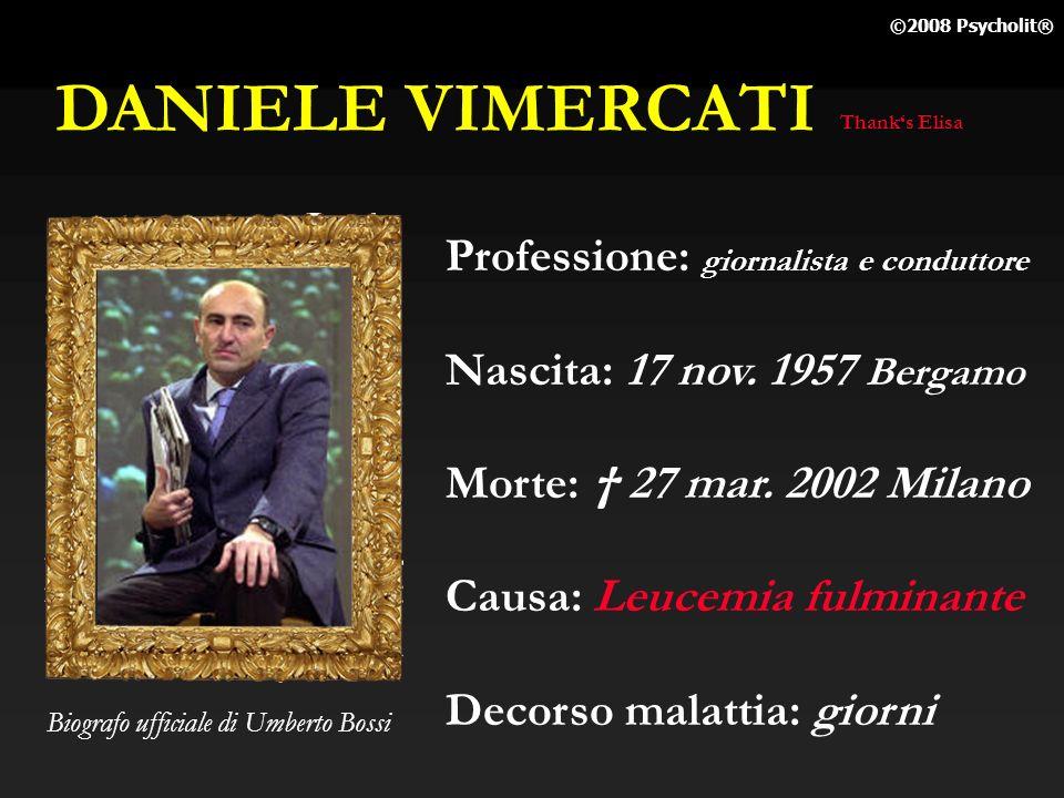 DANIELE VIMERCATI Professione: giornalista e conduttore
