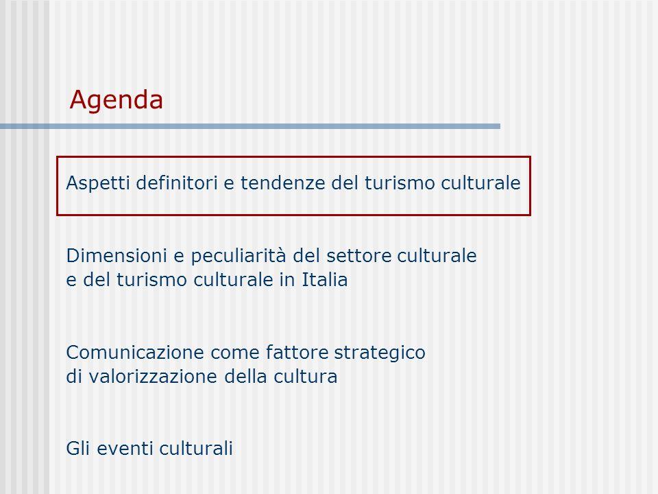 Agenda Aspetti definitori e tendenze del turismo culturale