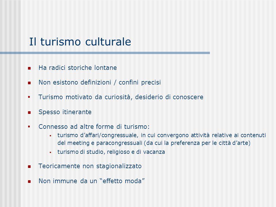 Il turismo culturale Ha radici storiche lontane