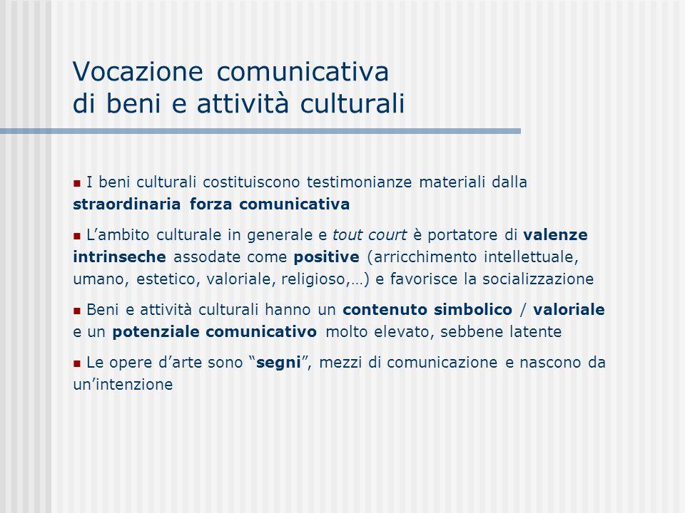 Vocazione comunicativa di beni e attività culturali