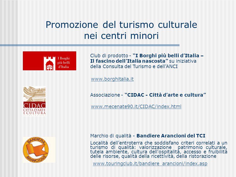 Promozione del turismo culturale nei centri minori