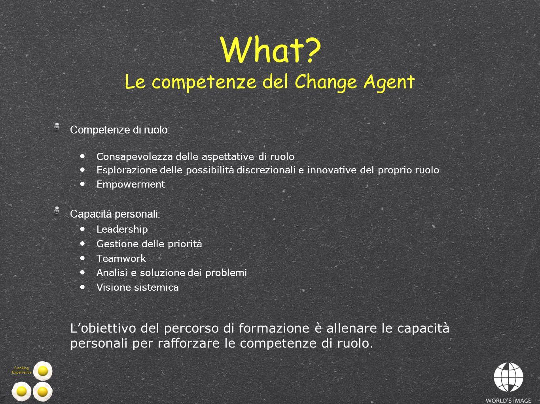 What Le competenze del Change Agent